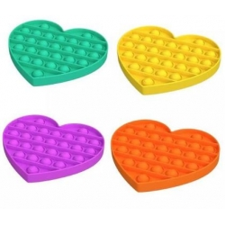 Поп ит фиджет играчка сърце-едноцветно