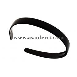 Черна диадема пластмаса-1.2 см