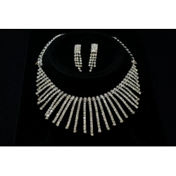Луксозен комплект с кристали-Елен