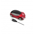 USB Мишка кола-червена