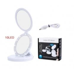Сгъваемо LED огледало за пътуване