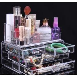 Органайзер за козметика от две части