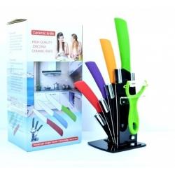 Комплект 4 ножа, белачка и поставка