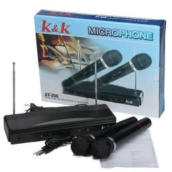 Микрофони с приемник 2 бр. K&K 306