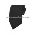 Дълга черна вратовръзка от сатен