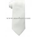 Бяла дълга сатенена вратовръзка
