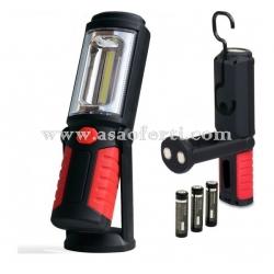 Подвижна LED лампа 1+1COB