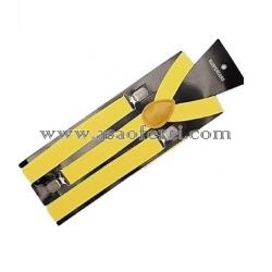 Тиранти цвят жълт-унисекс