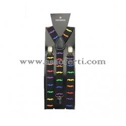 Тиранти с цветни мустачки-унисекс