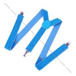 Ефектни сини тиранти с брокат