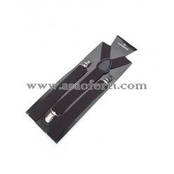 Тиранти цвят тъмно кафяв-унисекс